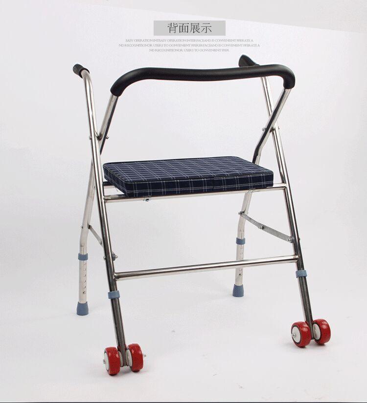 gånghjälpmedel kan vikas ihop och på äldre äldre vagnar gånghjälpmedel kan sitta två säten i stället för moped