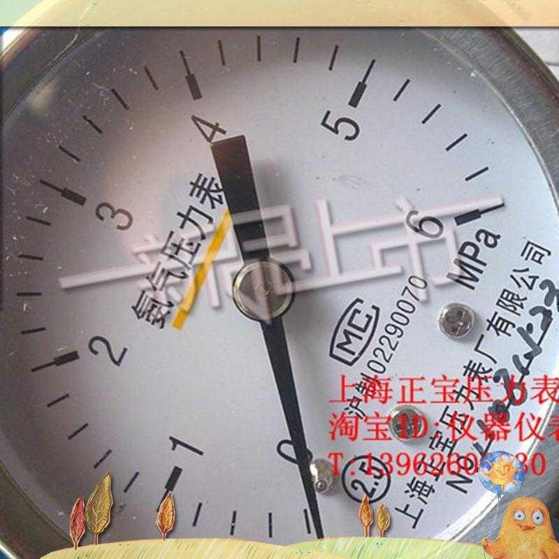 Chop hand also need to buy pressure gauge ammonia pressure reducer table, Shanghai treasure treasure pressure meter factory
