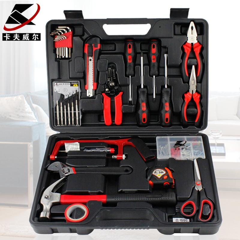 Authentic 34 piece family tools combination kit, Germany quality hardware toolbox
