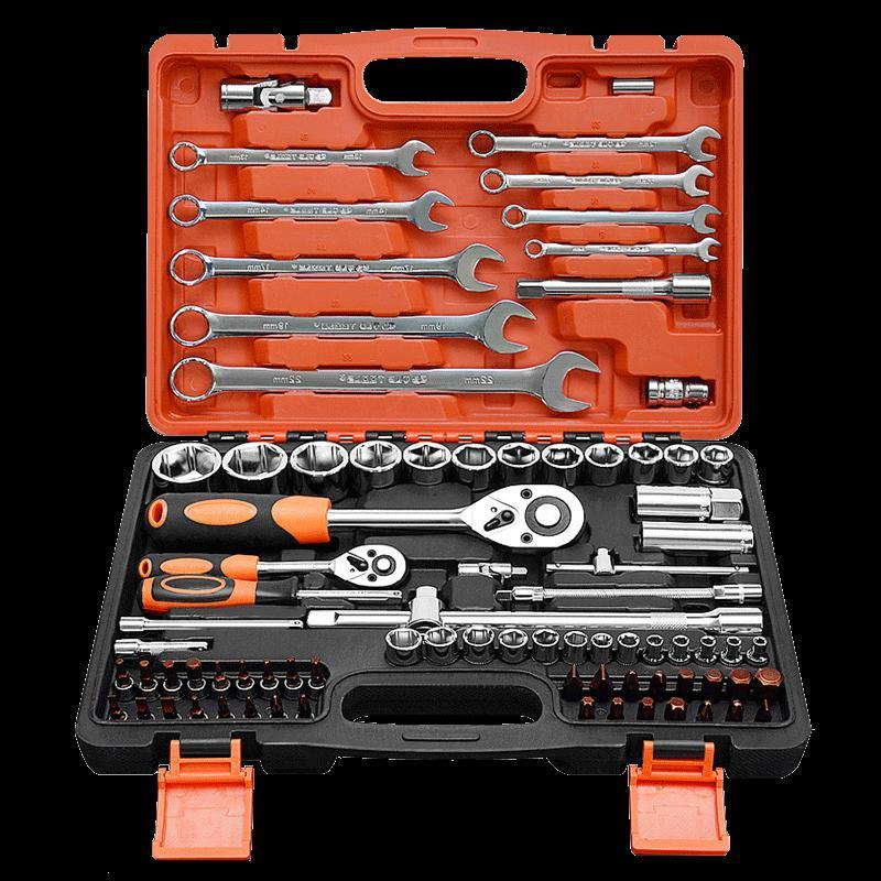 Automobile toolbox ratchet wrench set repair kit boats automatic dual ratchet wrench
