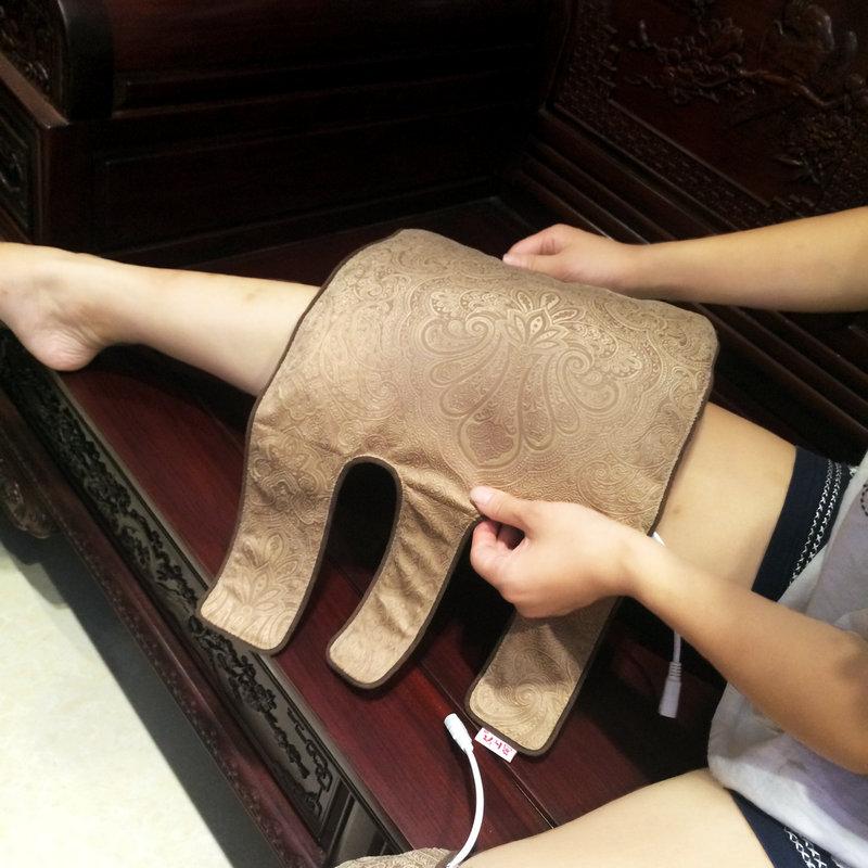 モグサひざ関節リューマチの足温湿布バッグ保温お灸家庭用電気加熱老人膝暖かい宮護ベルト