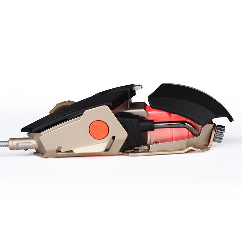 L'immortalité de définitions de macros de machines de jeu de souris par câble métallique esports silence muet de taille réglable à la main
