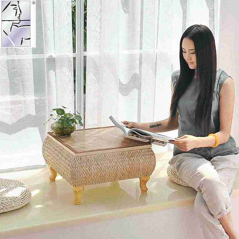 A small computer desk wood tatami folding bed Chinese tea table table table table single window
