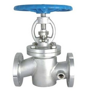 Factory direct BJ41W stainless steel insulation jacket flange globe valve DN154