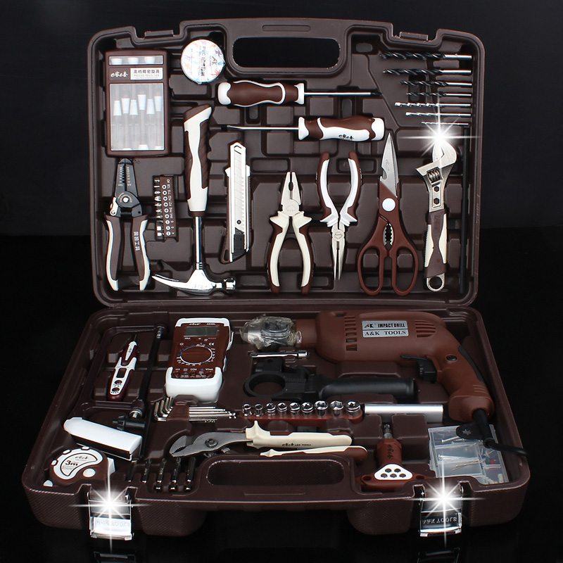 Socket wrench set ratchet quick wrench, car repair tool, car hardware toolbox combination