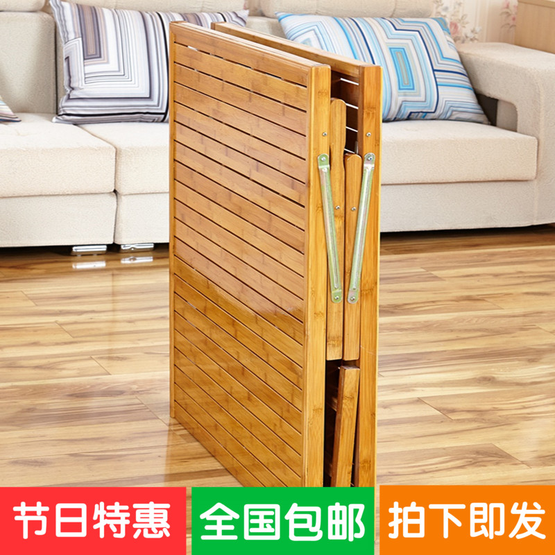 Folding bed, single bedroom master bedroom, simple wooden lunch bed, children's home board, economical double special bed