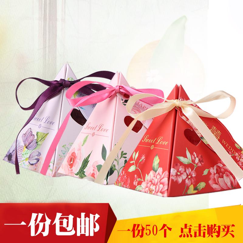 อุปกรณ์แต่งงานงานแต่งงานแต่งงานแบบจีนสร้างสรรค์บุคลิกภาพขายส่งกล่องทองน้ำตาลถุงขนมบรรจุกล่อง
