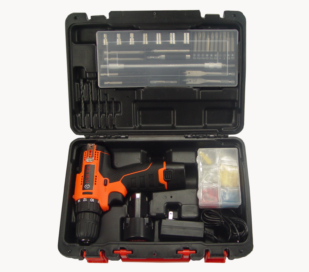 12V lithium battery charging type electric drill, sleeve combination tool, electric screwdriver, gift hardware tool set