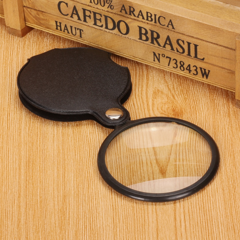 Jiang purchase a magnifying glass to enlarge students' sweet old mini folding handheld HD portable magnifier lens reading