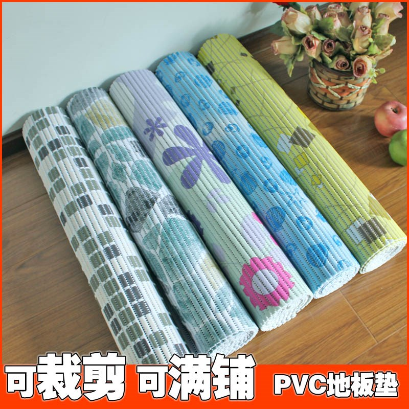 Cutting mat strip slip PVC absorbent pad kitchen bathroom balcony covered with tatami mat earth custom