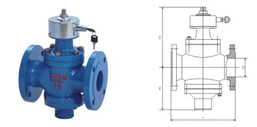 ZL47 self operated flow control balance valve water control valve DN50N2 inch Shanghai Seiko valve