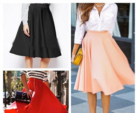 The new spring 2015 knee-waist skirts юбка подол