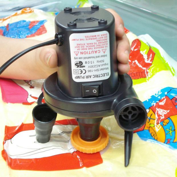 12v бортовой 220в бытовой игрушки перекачки газа наполнения плавательный круг насос двойного назначения кровать надувной бассейн электрический насос