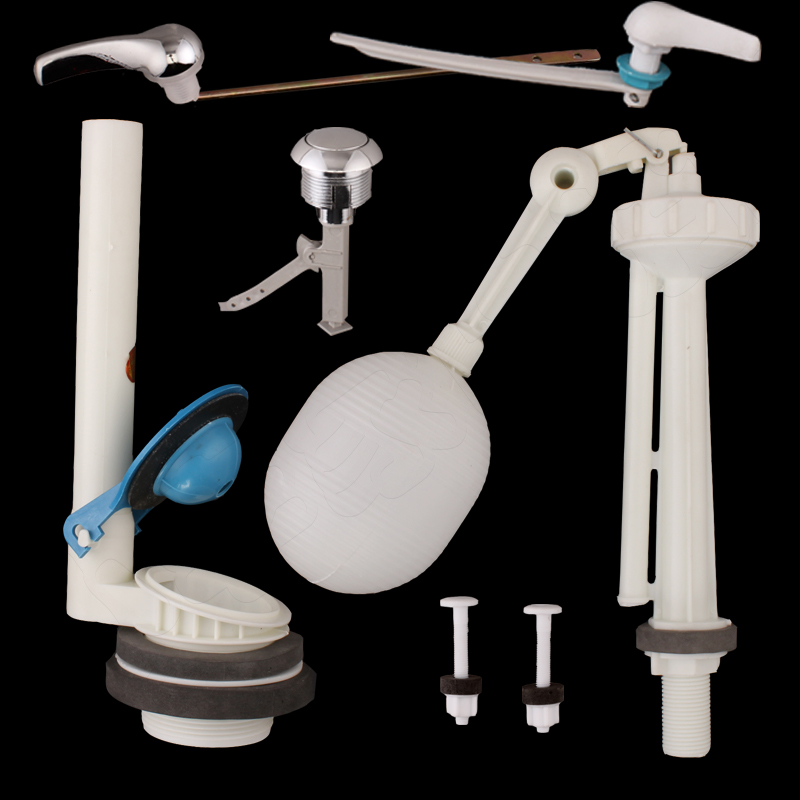 Old toilet water tank fittings, float ball type universal handle switch, toilet toilet drain valve split