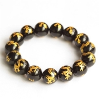 Shipping Natural Black Pearl agate bracelet beads on hand trick evil spirits transfer peach jewelry domineering man