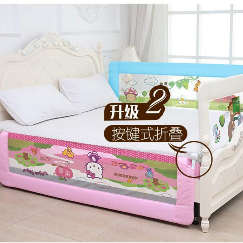 Three sides raise single guard board, child general bed tail bed fence falls, single bed frame anti-collision high and low safe bedside