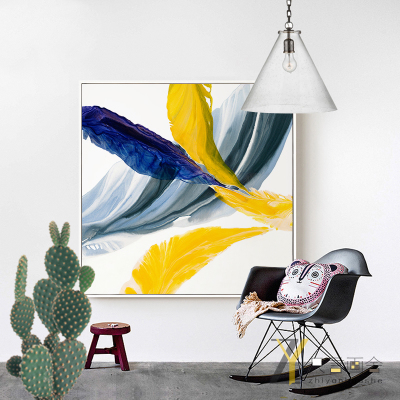现代简约抽象装饰画北欧客厅餐厅玄关大尺寸挂画简欧样板房壁画方