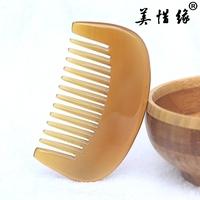 naturlige ægte hvide bøffel horn kam tykkere medium tand krøllet hår comb horn, kam, anti - statisk - tand comb