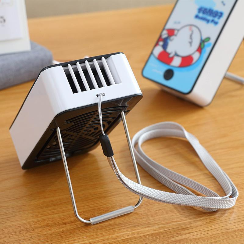 Portable rechargeable Mini USB refrigeration mini portable fan with portable air conditioner