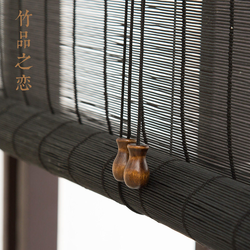 бамбуковый занавес занавес занавес занавес затенение раздела балкон в офис чайная бамбуковые шторы гостиной японский обычай