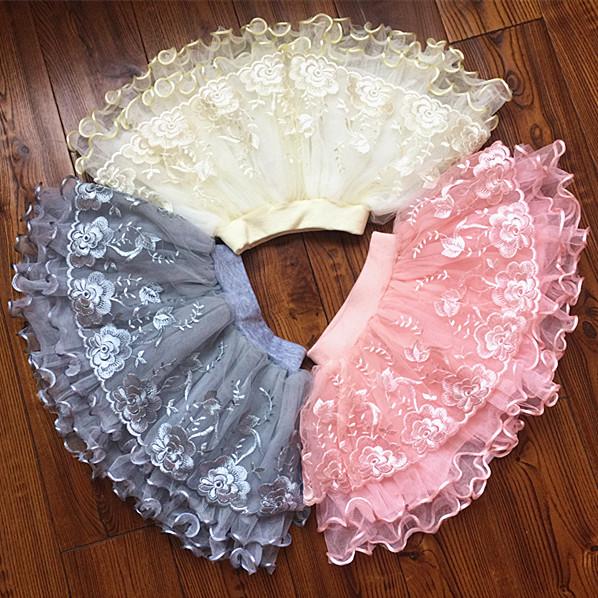 2017女童短裙半身裙兒童半截裙寶寶蓬蓬裙公主網紗短裙寶寶腰裙