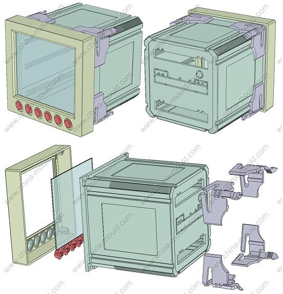 宁波三和壳体仪器仪表外壳塑料外壳柜装仪表壳96116