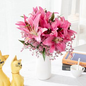 云南昆明基地直发香水百合花鲜花直批家用水养花鲜切花速递包邮