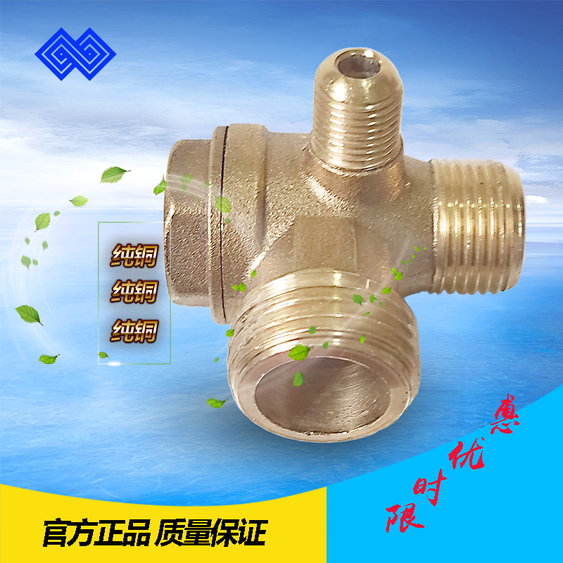 Air compressor straight line one-way non-return non-return valve with oil pump piston type small pump mouth joint fittings
