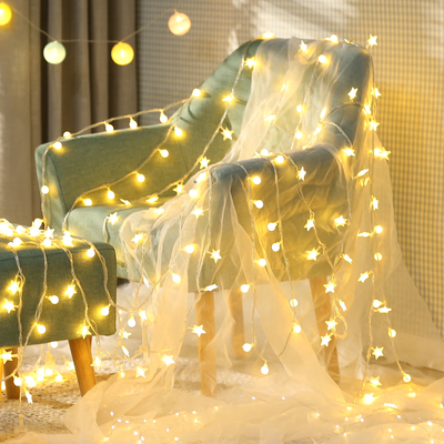 Decorative Lights star lights flashing string lights starry girl heart room layout bedroom romantic dormitory