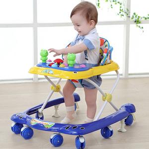 宝宝婴儿童学步车6/7-18个月u型防侧翻手推车可折叠带音乐婴儿车