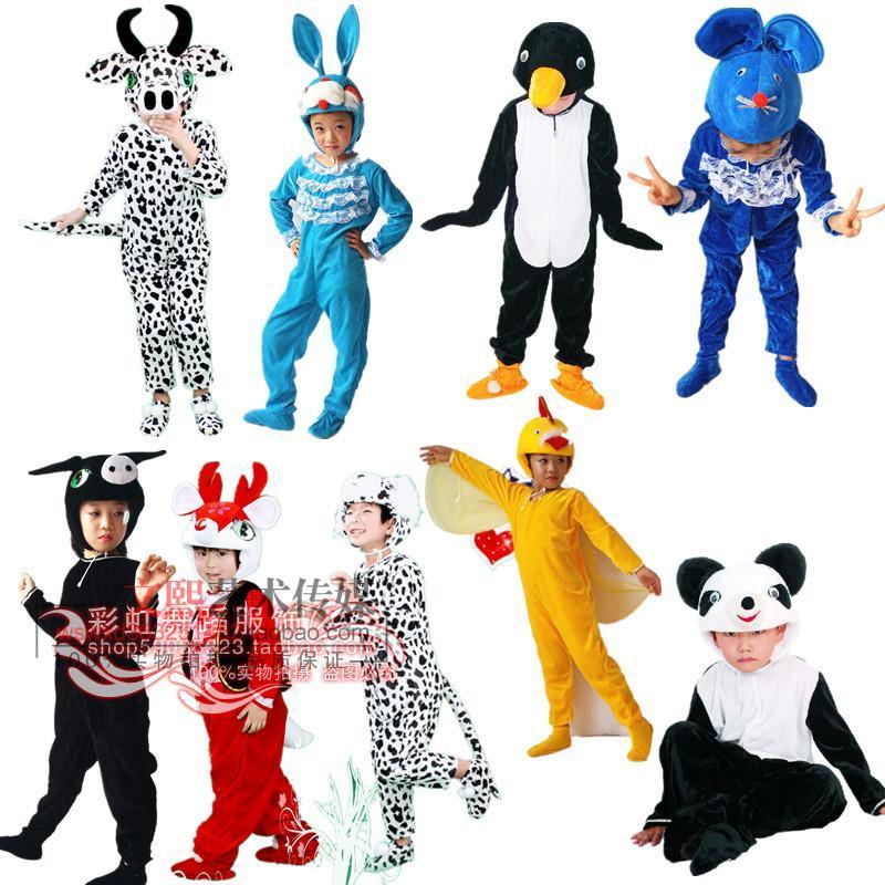 粉豬100cm兒童小兔子動物表演服老鼠鴨子小豬狗小鹿小鳥熊貓奶牛企鵝演出服