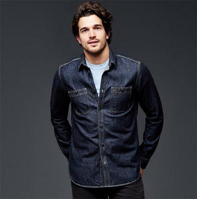 纯棉深色牛仔衬衫式外套|男装108508吊牌价399原单