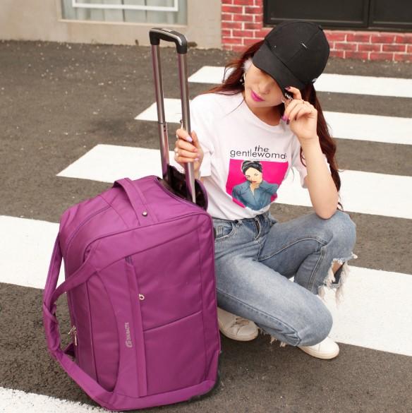 旅行包拉杆包男女大容量手提行李袋登机出差商务包短途旅游收纳包
