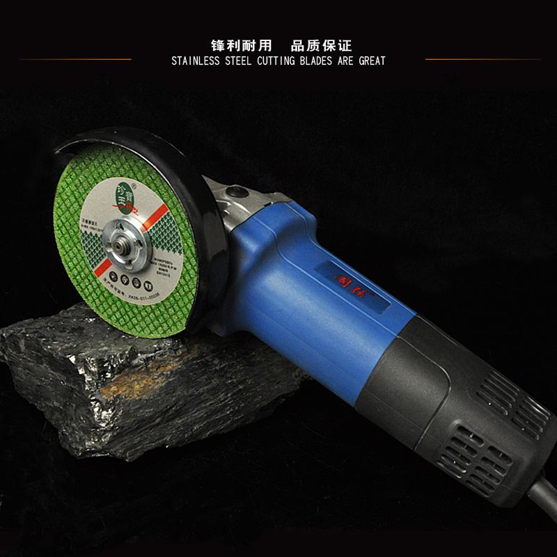 Moedor de ângulo de Corte fino de Liga de alumínio de aço inoxidável moagem Roda de resina Placa de polimento Dupla 100 comprimidos