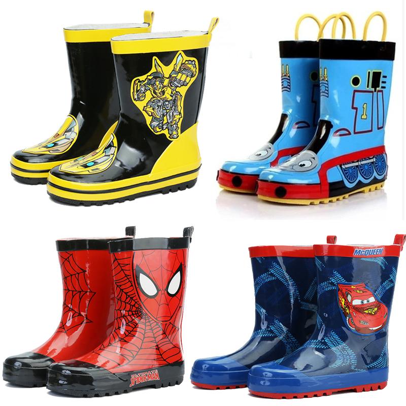 儿童男童雨鞋四季男孩春夏季水鞋小学生卡通橡胶套鞋中筒防雨水靴