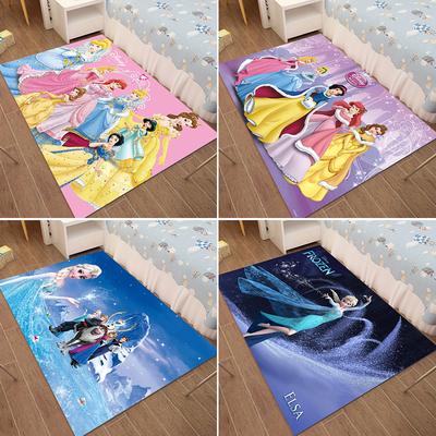 儿童房地毯卧室满铺可爱公主地毯小床边幼儿园卡通女孩地垫可机洗