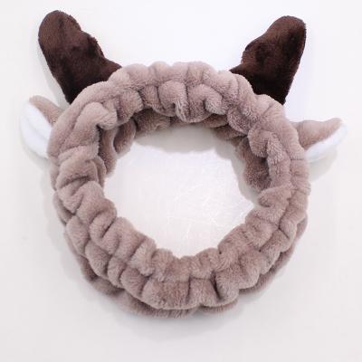 En la cabeza de la banda cabeza de cornamenta hairband Navidad adornos horquillas aparición de Corea diablo orejas de conejo.