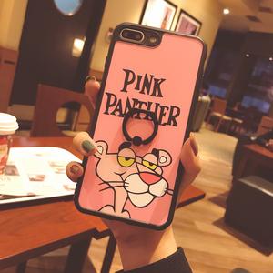 粉红豹iphone8手机壳6支架7plus卡通苹果8p硅胶x少女XR个性XS MAX