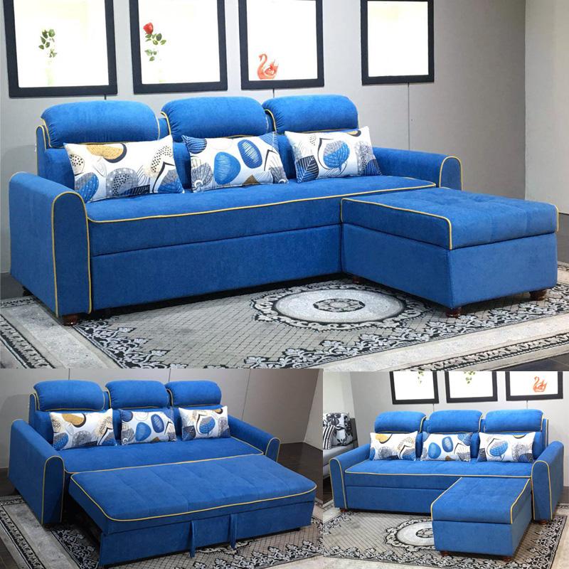απλή πτυσσόμενο καναπέ - κρεβάτι συνδυασμό γωνία στο σαλόνι ύφασμα πολυλειτουργικές διπλή αποθήκευση το μικρό μέγεθος του καναπέ - κρεβάτι διπλά