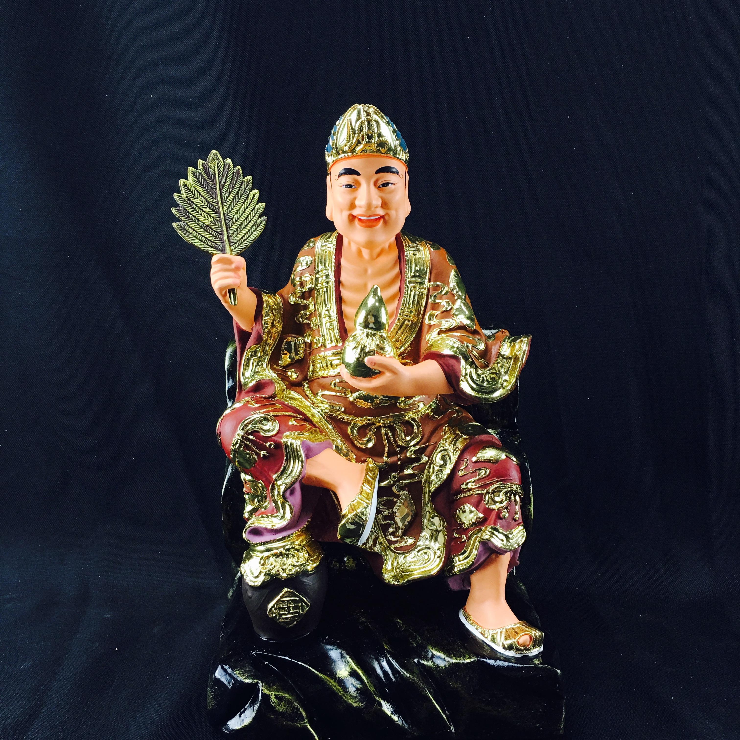 12寸樹脂濟公菩薩羅漢神像佛像工藝品家居現代顯靈風水化煞裝飾品