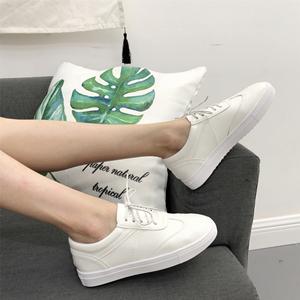 小白鞋女夏季2018新款百搭基础韩版透气镂空厚底街拍板鞋真皮白鞋
