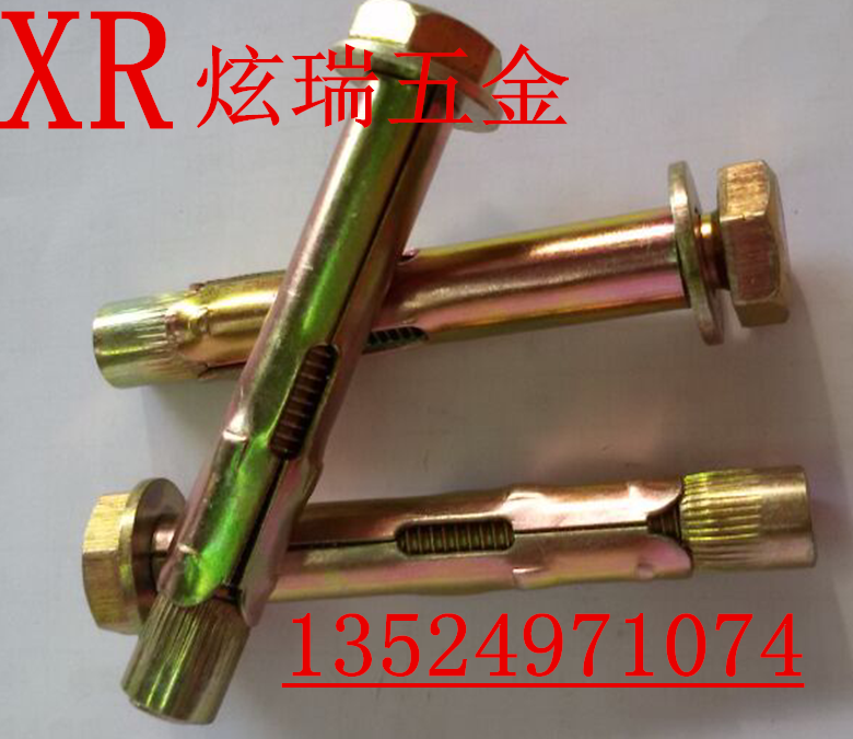Outer six angle expansion screw, flat headed expansion bolt casing expansion screw M6M8M10M12M16