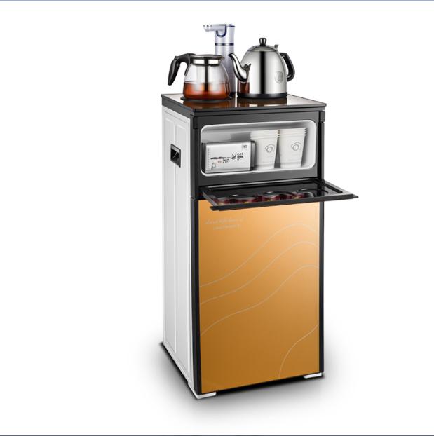 Το ζεστό και το κρύο σπίτι πάγου οικιακή συσκευή κάθετη ζεστό γραφείο γυάλινη πόρτα της εξοικονόμησης ενέργειας (βραστό νερό τσάι - μπαρ.