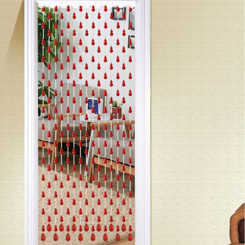 Bead curtain partition arc-shaped entrance, simple European style decoration, home Fengshui curtain, bedroom bead curtain, crystal partition door curtain