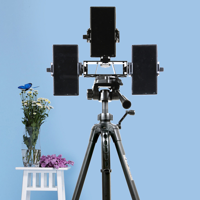 Mobile Phone Tripod bracket anchor three-station multi-platform YY vibrato live equipment tripod