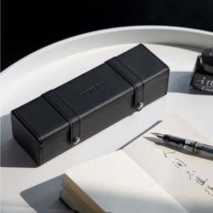 文具盒无印良品皮高级抖音笔袋多功能初中女创意简易网红铅笔笔盒