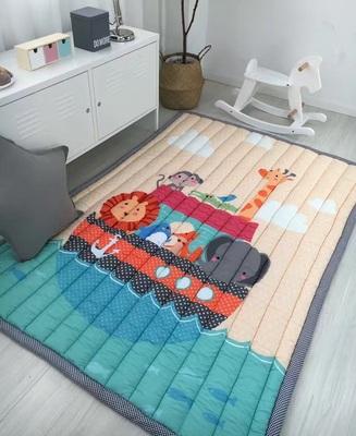 全棉加厚款儿童爬行垫宝宝防滑榻榻米客厅卧室游戏垫子纯棉爬爬垫