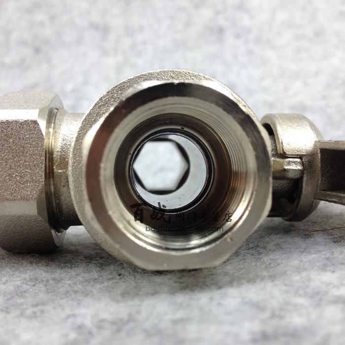 20 years of copper valve sales history, heating three-way valve, nickel plated copper switch, L type 4 points, 6 points, 1 inches