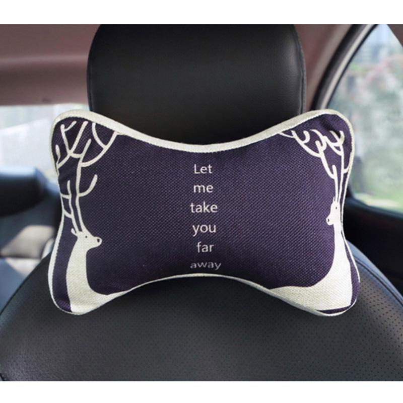 自動車のヘッドレスト頚枕記憶綿四季車枕で護首クッションアニメコンテンツ车饰文芸