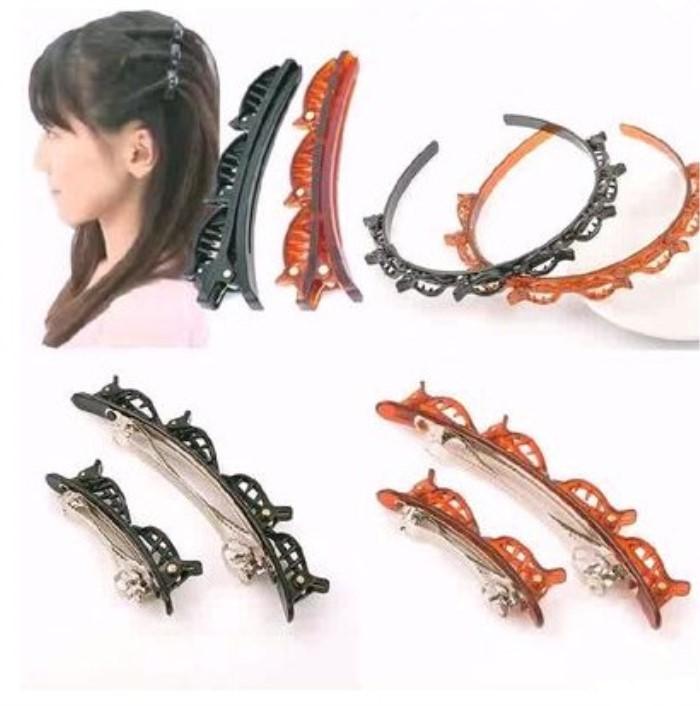 Korean style hoop hairpin double Liu Haijia hairdressing tool energy-saving hair braider artifact card hair female
